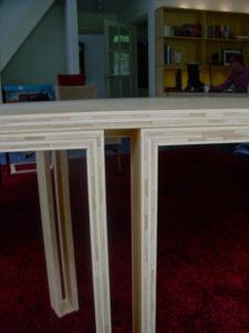 CONFERENTIETAFEL. Bamboe sidepressed naturel met hardwasolie. Jan van Tiggelen meer foto's